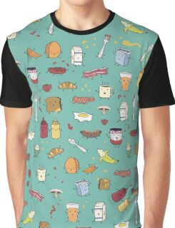 Breakfast is people too Graphic T-Shirt