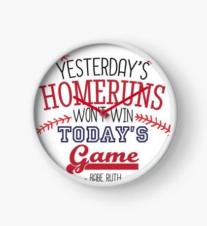 Baseball - Babe Ruth Quote Clock