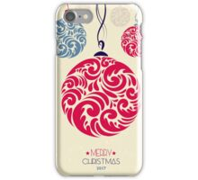 Christmas Holiday Winter Background iPhone Case/Skin