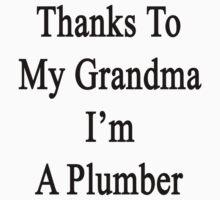 Thanks To My Grandma I'm A Plumber  by supernova23