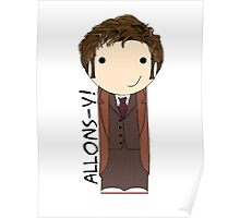 Tenth Doctor kokeshi doll Poster