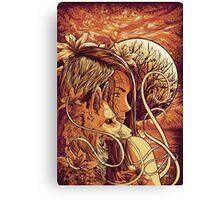 orange fox Canvas Print