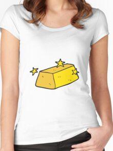 cartoon gold Women's Fitted Scoop T-Shirt