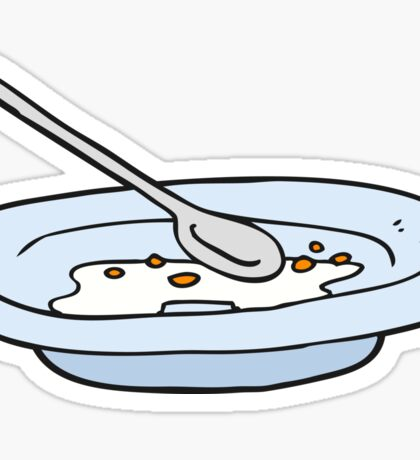 cartoon empty cereal bowl Sticker