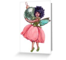 Fairy With a Green Bauble Greeting Card