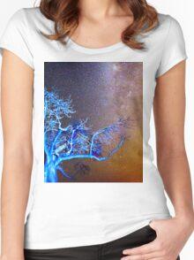 Starry Night in Botswana Women's Fitted Scoop T-Shirt