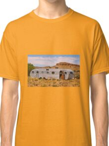 Old Abandoned Trailer in Desert Classic T-Shirt
