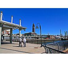 N J Transit's Clock Tower Hoboken NJ Photographic Print