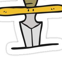 cartoon dagger tattoo symbol Sticker