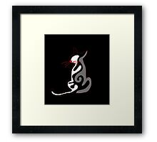 Elegant abstract cat Framed Print