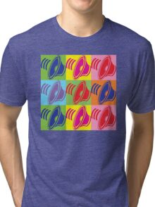 Pop Art Speaker Cones Tri-blend T-Shirt