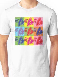 Pop Art Speaker Cones Unisex T-Shirt