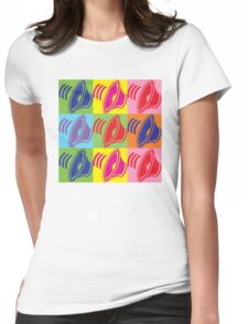 Pop Art Speaker Cones Womens Fitted T-Shirt