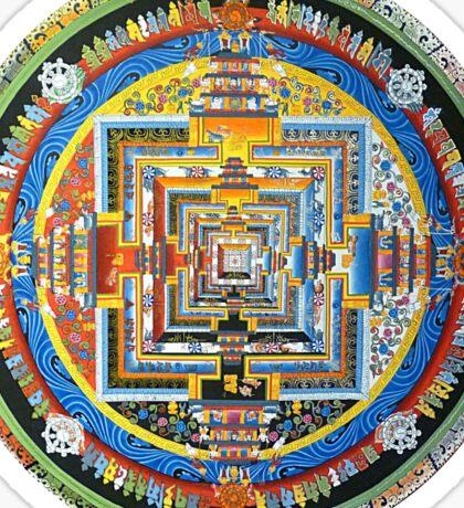 Tibetan Mandala red Sticker