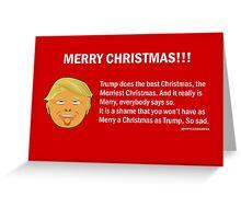 Donald Trump Merry Christmas Greeting Card