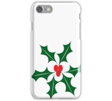 Holly Christmas iPhone Case/Skin