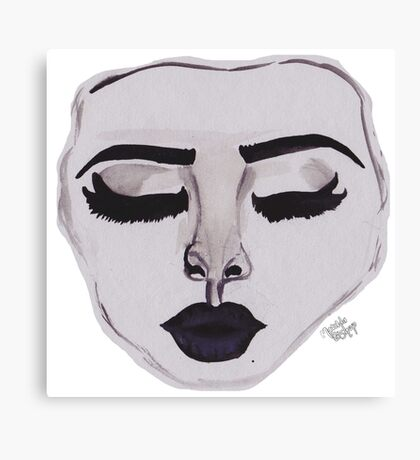 Dark-lipped Model Canvas Print