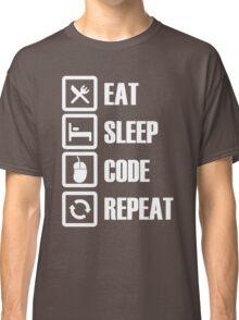 eat sleep code repeat programmer Classic T-Shirt