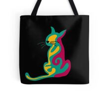 Colorful abstract cat  Tote Bag
