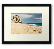 Footsteps in the beach of Cabo San Lucas, Mexico Framed Print