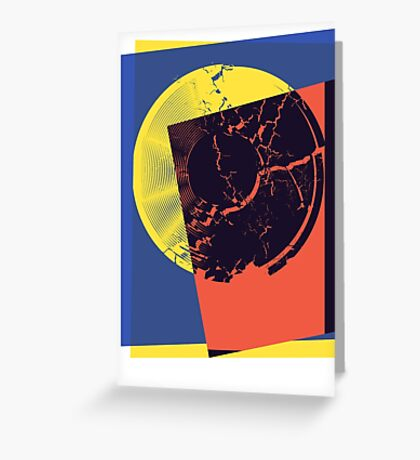 Pop Art Record Shattered Greeting Card