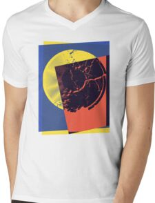 Pop Art Record Shattered Mens V-Neck T-Shirt