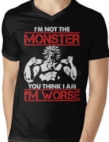 Broly- I am Not The Monster You Think, I am Worse (Only Last 12 Hours Left) Mens V-Neck T-Shirt