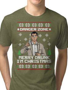 Archer-Danger Zone TV Christmas. Tri-blend T-Shirt