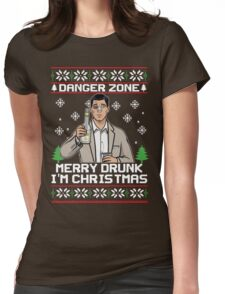 Archer-Danger Zone TV Christmas. Womens Fitted T-Shirt