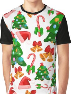 Merry Christmas and New Year pattern Graphic T-Shirt