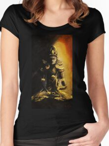 Abhaya Mudra (Fearless Seal) wisdom and protection  Women's Fitted Scoop T-Shirt
