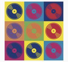 Pop Art Vinyl Records by retrorebirth