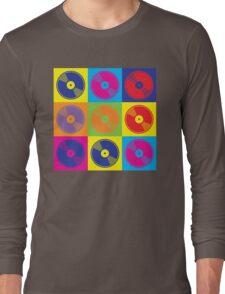 Pop Art Vinyl Records Long Sleeve T-Shirt