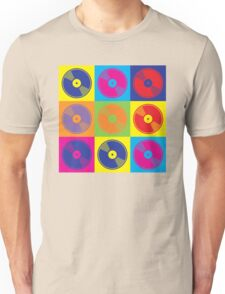 Pop Art Vinyl Records Unisex T-Shirt