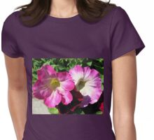 Pink and Red Petunias Womens Fitted T-Shirt
