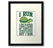I Run Framed Print