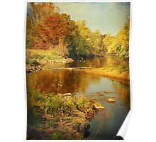 Fall Time at Rum River Poster