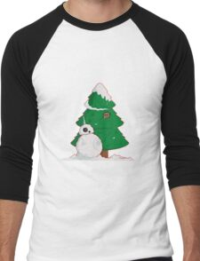 Snowdroid Men's Baseball ¾ T-Shirt