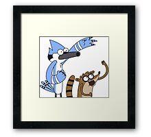 Mordecai & Rigby - Regular Show Framed Print