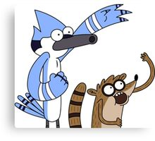 Mordecai & Rigby - Regular Show Canvas Print