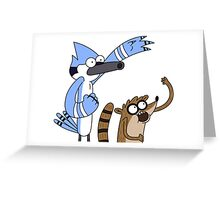 Mordecai & Rigby - Regular Show Greeting Card