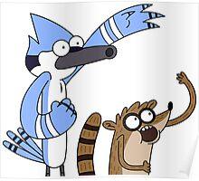 Mordecai & Rigby - Regular Show Poster