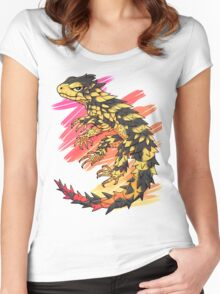 Smaug giganteus- red N yellow Women's Fitted Scoop T-Shirt
