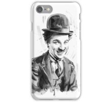 Charlie Chaplin portrait iPhone Case/Skin