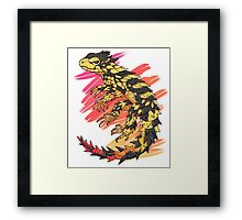 Smaug giganteus- red N yellow Framed Print