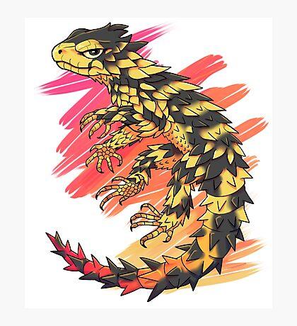 Smaug giganteus- red N yellow Photographic Print