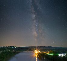 Austin Texas Images - The 360 Bridge Under the Milky Way by RobGreebonPhoto
