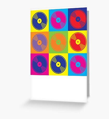 Pop Art Vinyl Records 2 Greeting Card