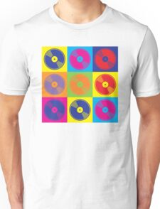 Pop Art Vinyl Records 2 Unisex T-Shirt