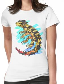 Smaug giganteus- Blue N green Womens Fitted T-Shirt